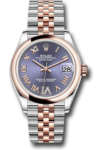 Rolex Watches - Datejust 31 Steel and Everose Gold - Domed Bezel - Jubilee - Style No: 278241 aubdr6j