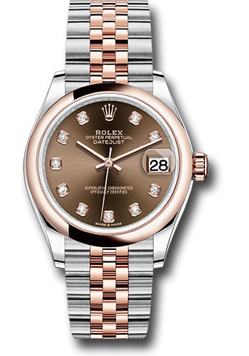 Rolex Watches - Datejust 31 Steel and Everose Gold - Domed Bezel - Jubilee - Style No: 278241 chodj
