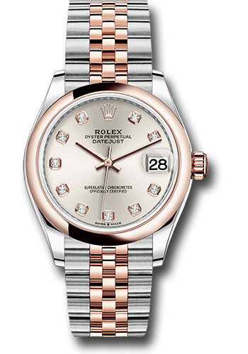 Rolex Watches - Datejust 31 Steel and Everose Gold - Domed Bezel - Jubilee - Style No: 278241 sdj