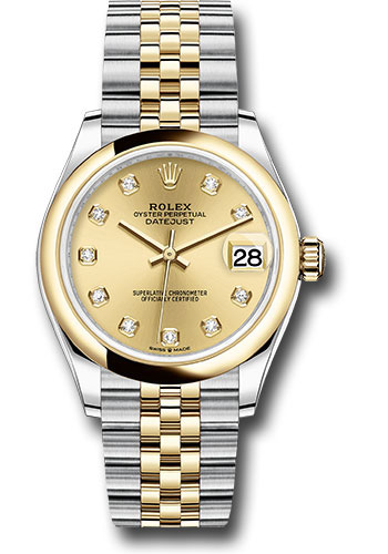 Rolex Watches - Datejust 31 Steel and Yellow Gold - Domed Bezel - Jubilee - Style No: 278243 chdj