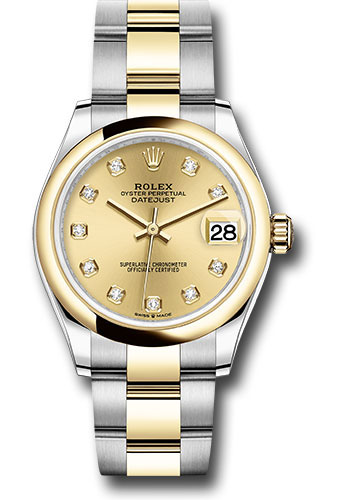 Rolex Watches - Datejust 31 Steel and Yellow Gold - Domed Bezel - Oyster - Style No: 278243 chdo