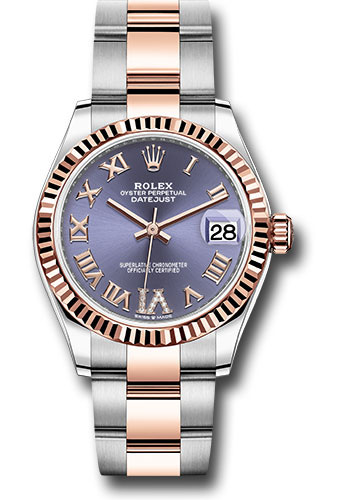 Rolex Watches - Datejust 31 Steel and Everose Gold - Fluted Bezel - Oyster - Style No: 278271 aubdr6o