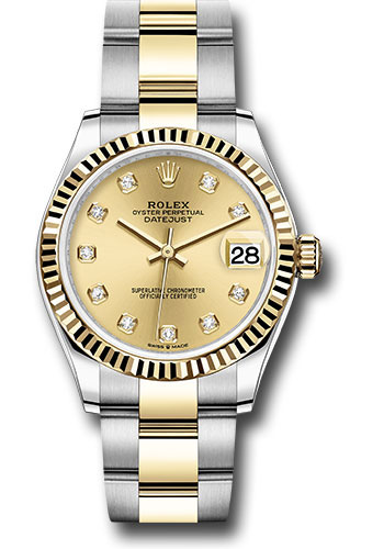 Rolex Watches - Datejust 31 Steel and Yellow Gold - Fluted Bezel - Oyster - Style No: 278273 chdo