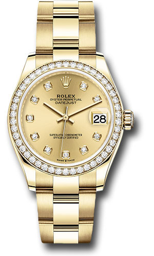 Rolex Watches - Datejust 31 Yellow Gold - Diamond Bezel - Oyster - Style No: 278288RBR chdo