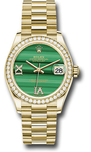 Rolex Watches - Datejust 31 Yellow Gold - Diamond Bezel - President - Style No: 278288RBR madr69p
