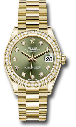 Rolex Watches - Datejust 31 Yellow Gold - Diamond Bezel - President - Style No: 278288RBR ogdp