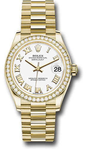 Rolex Watches - Datejust 31 Yellow Gold - Diamond Bezel - President - Style No: 278288RBR wrp