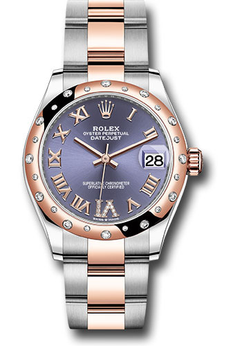 Rolex Watches - Datejust 31 Steel and Everose Gold - 24 Dia Bezel - Oyster - Style No: 278341RBR aubdr6o
