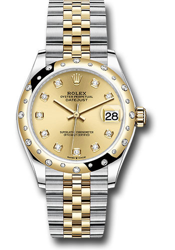 Rolex Watches - Datejust 31 Steel and Yellow Gold - 24 Dia Bezel - Jubilee - Style No: 278343 chdj