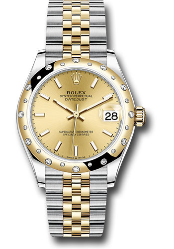 Rolex Watches - Datejust 31 Steel and Yellow Gold - 24 Dia Bezel - Jubilee - Style No: 278343 chij
