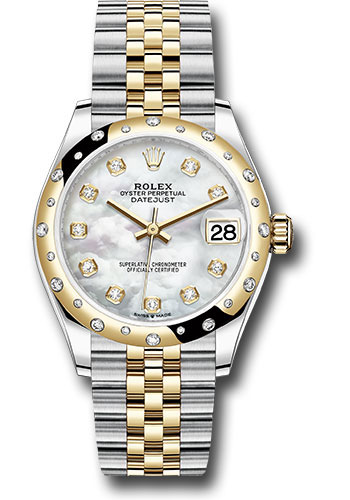 Rolex Watches - Datejust 31 Steel and Yellow Gold - 24 Dia Bezel - Jubilee - Style No: 278343 mdj