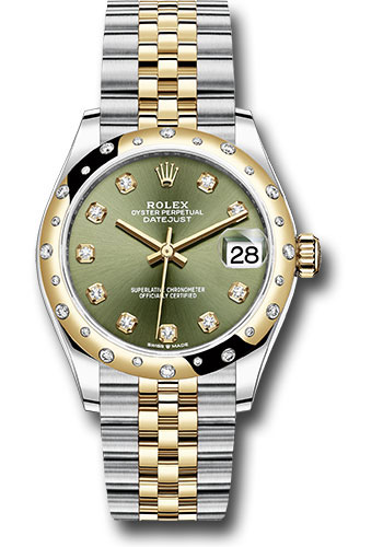 Rolex Watches - Datejust 31 Steel and Yellow Gold - 24 Dia Bezel - Jubilee - Style No: 278343 ogdj