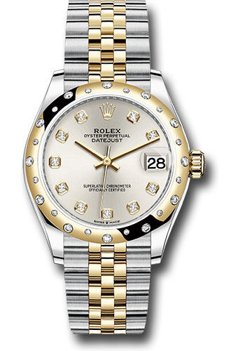 Rolex Watches - Datejust 31 Steel and Yellow Gold - 24 Dia Bezel - Jubilee - Style No: 278343 sdj