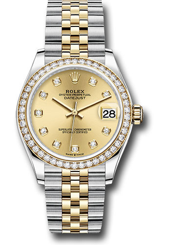 Rolex Watches - Datejust 31 Steel and Yellow Gold - 46 Dia Bezel - Jubilee - Style No: 278383RBR chdj