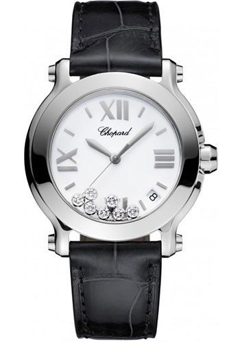 Chopard Watches - Happy Sport Round Medium Stainless Steel - Style No: 278475-3001