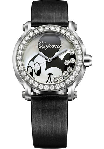 Chopard Watches - Happy Sport Round Medium Stainless Steel - Style No: 278475-3033