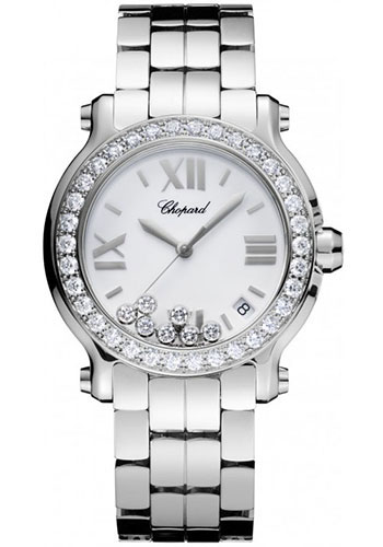 Chopard Watches - Happy Sport Round Medium Stainless Steel - Style No: 278477-3008