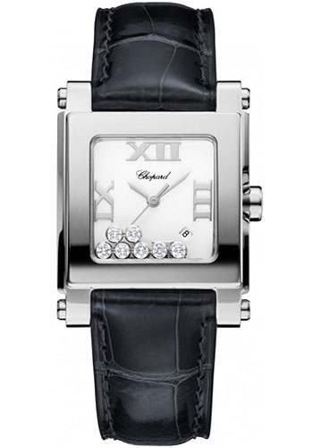 Chopard Watches - Happy Sport Square Medium Stainless Steel - Style No: 278495-3001