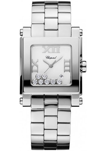 Chopard Watches - Happy Sport Square Medium Stainless Steel - Style No: 278496-3001