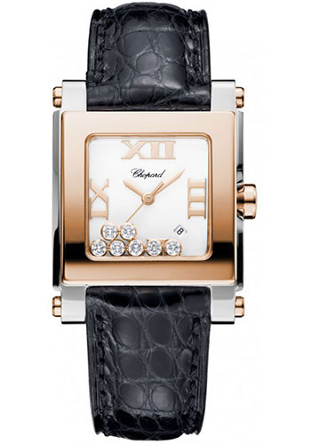 Chopard Watches - Happy Sport Square Medium Steel and Gold - Style No: 278497-9001