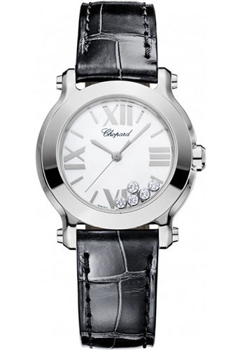 Chopard Watches - Happy Sport Round Mini Stainless Steel - Style No: 278509-3001