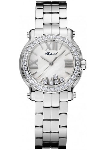Chopard Watches - Happy Sport Round Mini Stainless Steel - Style No: 278509-3010