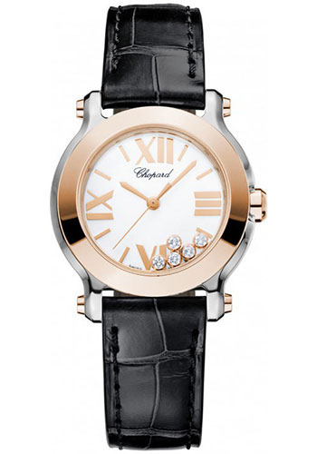 Chopard Watches - Happy Sport Round Mini Steel and Gold - Style No: 278509-6001