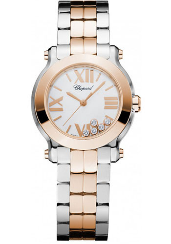 Chopard Watches - Happy Sport Round Mini Steel and Gold - Style No: 278509-6003
