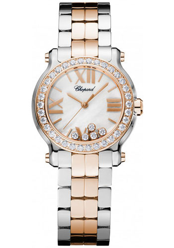 Chopard Watches - Happy Sport Round Mini Steel and Gold - Style No: 278509-6005