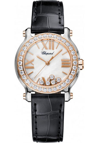 Chopard Watches - Happy Sport Round Mini Steel and Gold - Style No: 278509-6006