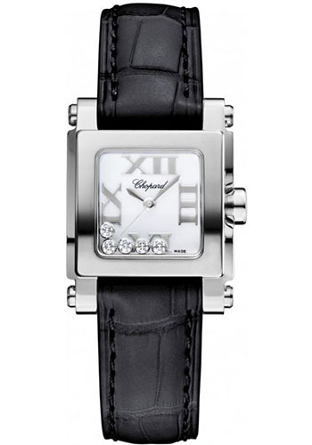 Chopard Watches - Happy Sport Square Mini Stainless Steel - Style No: 278516-3001