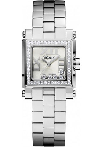 Chopard Watches - Happy Sport Square Mini Stainless Steel - Style No: 278516-3004