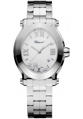 Chopard Watches - Happy Sport Oval Stainless Steel - Style No: 278546-3003