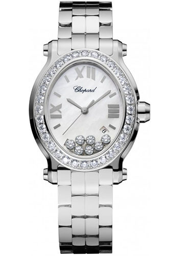 Chopard Watches - Happy Sport Oval Stainless Steel - Style No: 278546-3004