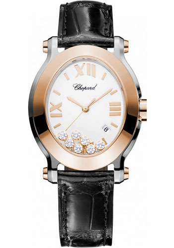 Chopard Watches - Happy Sport Oval Steel and Gold - Style No: 278546-6001