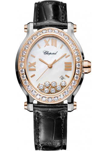 Chopard Watches - Happy Sport Oval Steel and Gold - Style No: 278546-6002