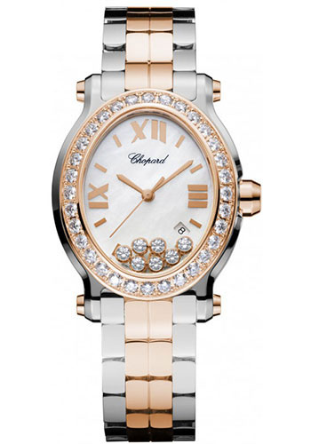 Chopard Watches - Happy Sport Oval Steel and Gold - Style No: 278546-6004