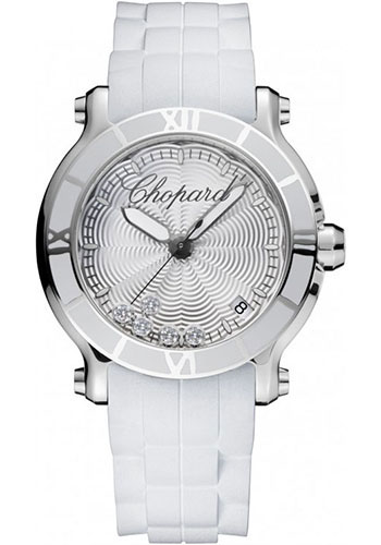 Chopard Watches - Happy Sport Round Medium Stainless Steel - Style No: 278551-3001