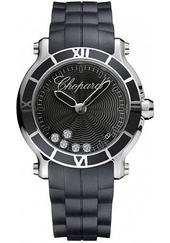Chopard Watches - Happy Sport Round Medium Stainless Steel - Style No: 278551-3002