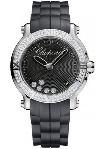 Chopard Watches - Happy Sport Round Medium Stainless Steel - Style No: 278551-3004