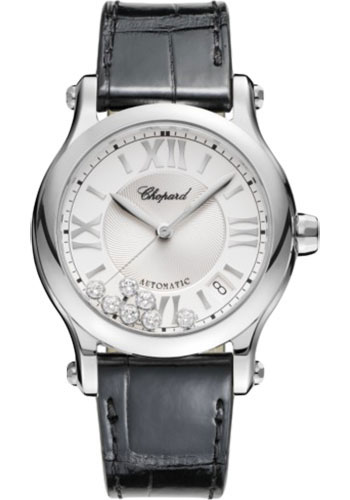 Chopard Watches - Happy Sport Round - 36mm - Stainless Steel - Style No: 278559-3001