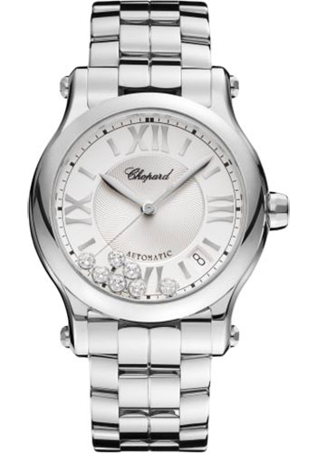 Chopard Watches - Happy Sport Round - 36mm - Stainless Steel - Style No: 278559-3002