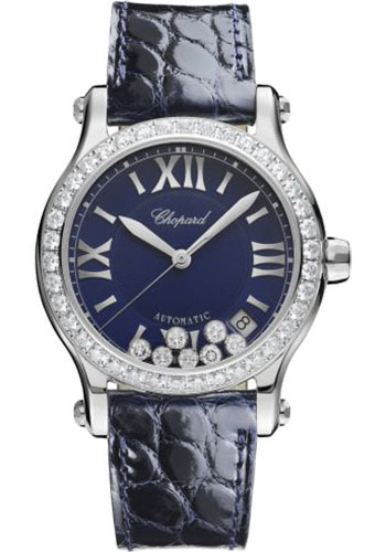 Chopard Watches - Happy Sport Round - 36mm - Stainless Steel - Style No: 278559-3006