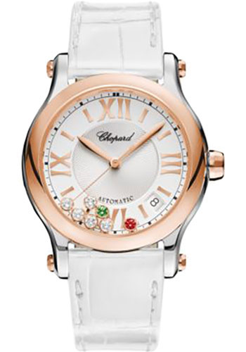 Chopard Watches - Happy Sport Round - 36mm - Rose Gold - Style No: 278559-6020