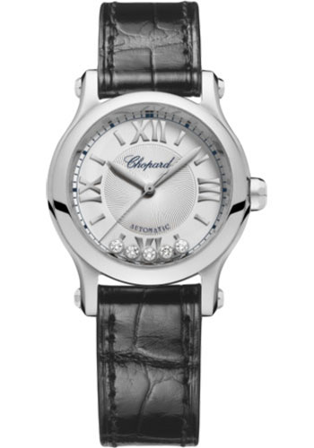 Chopard Watches - Happy Sport Round - 30mm - Stainless Steel - Style No: 278573-3011