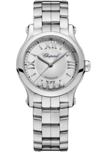Chopard Watches - Happy Sport Round - 30mm - Stainless Steel - Style No: 278573-3012