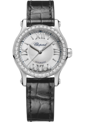 Chopard Watches - Happy Sport Round - 30mm - Stainless Steel - Style No: 278573-3013