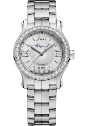 Chopard Watches - Happy Sport Round - 30mm - Stainless Steel - Style No: 278573-3014