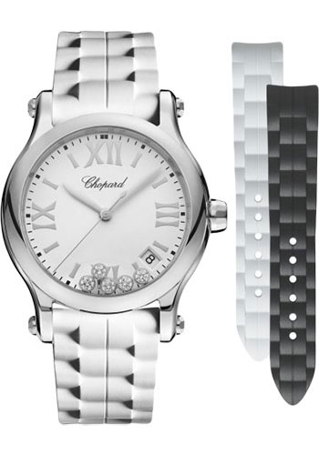 Chopard Watches - Happy Sport Round - 36mm - Stainless Steel - Style No: 278582-3001