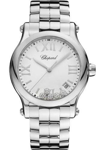 Chopard Watches - Happy Sport Round - 36mm - Stainless Steel - Style No: 278582-3002